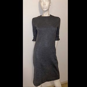 Vtg 1950's JONATHAN LOGAN Charcoal Wool Dress